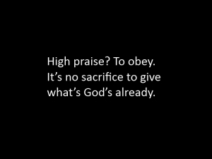 Prayer Light: praise