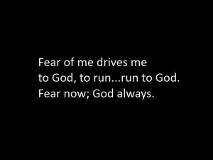 Prayer Light: fear