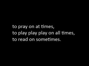Prayer Light: knees